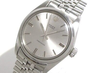 Auth ROLEX Oyster Oyster Precision 6426 Silver Men