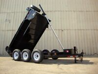 Miska 10 Ton Contractor Dump Trailer - Factory Dir