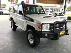 2012 Toyota Landcruiser VDJ76R MY10 Workmate White 5 Speed Manual Wagon Hamilton Newcastle Area Preview