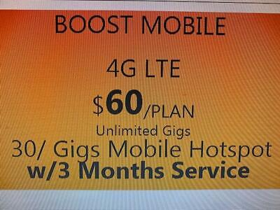 Boost Mobile BYOD 3 Month Service PROMOTIONAL OFFER   $60 Unlimited  Plan  Boost Mobile Unlimited