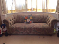Fabric Chesterfield 3 seater sofa