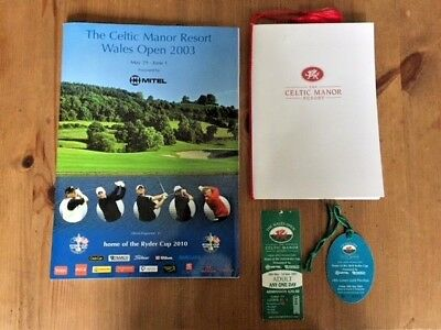 WALES GOLF OPEN 2003 PROGRAM + HOSPITALITY PACK