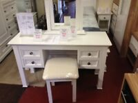 Elegant Bali Banbury white 1 drawer bedside / lamp table £110
