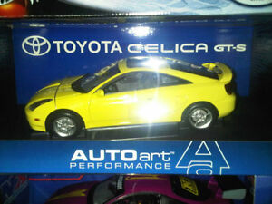 Autoart 1/18 Toyota Celica GT-S in box, new yellow
