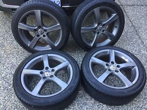 """VW Goal 17"""" wheels and tires"""