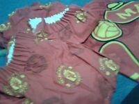 Manchester Utd curtains, duvet and fleece blanket