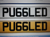 PRIVATE PLATE 'PU66LED' READS PUGGLED!!! CHERISHED NUMBER PERSONAL REGISTRATION