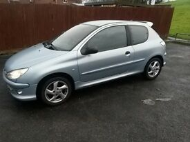 PEUGEOT 206 XSI 12 MONTHS MOT PRICE JUST REDUCED