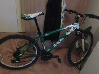 SARACEN MOUNTAIN BIKE with a lock and a spare ladies saddle
