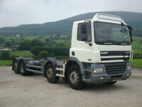 2006 Daf CF85 340 8x2 Chassis Cab