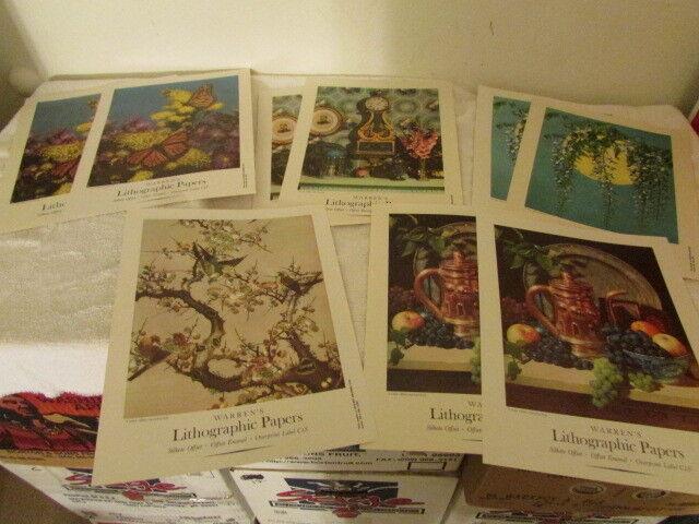 Lot of 9 Vintage Warren Company Boston Prints / Lithos