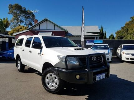 2012 Toyota Hilux KUN26R MY12 Workmate (4x4) White 5 Speed Manual Dual Cab Pick-up Mount Hawthorn Vincent Area Preview