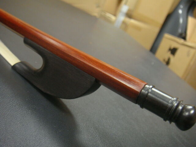 French Style 4/4 Brazilwood Baroque Double Bass Bow