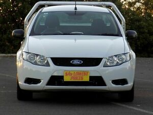 2010 Ford Falcon FG Super Cab White 4 Speed Sports Automatic Cab Chassis Blair Athol Port Adelaide Area Preview