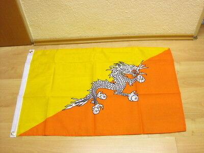 Fahnen Flagge Bhutan 60 x 90 cm
