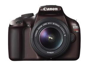 *$165 FIRM. BROWN, Canon EOS REBEL T3 12.2 MP DSLR Camera. MINT*