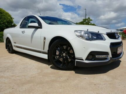 2014 Holden Ute VF MY14 SS V Ute Redline Heron White 6 Speed Sports Automatic Utility Garbutt Townsville City Preview