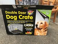 Large black dog crate (collapsable)