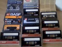 BASF CASSETTE TAPES x10 C90 CHROME EXTRA II, CR-SII CHROMDIOXID SUPER II, CHROMDIOXID SM, LH-SM, FEI