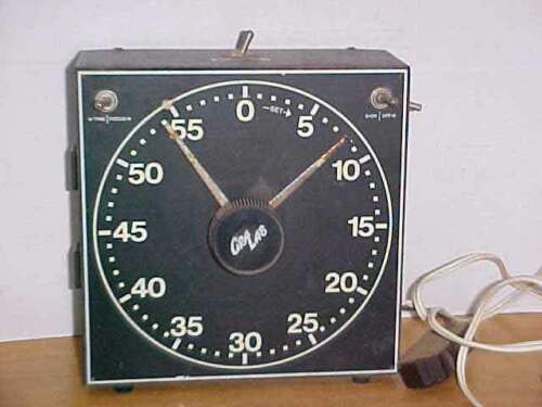 CRA LAB Darkroom Timer Model 300 w/ Glowing Luminous Dial Tested Working