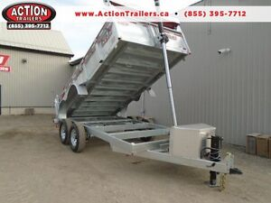 7x14' Galvanized Dump trailer - CANADIAN MADE - BUILT TO LAST