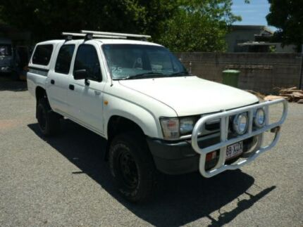 2001 Toyota Hilux LN167R DUAL CAB White Manual Utility Rosslea Townsville City Preview