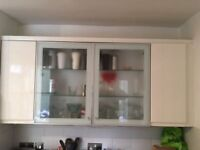 Magnet white gloss used kitchen wall cabinets