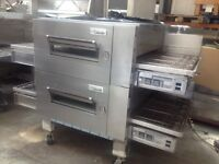 Lincoln pizza oven, Double stack, Double belt Conveyor pizza oven, Gas pizza oven