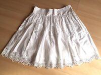 Lovely White Monsoon Skirt sz10