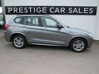 BMW X3 2.0 XDRIVE20D M SPORT 5d AUTO 181 BHP (grey) 2012