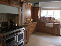 Solid Oak Kitchen with integrated dishwasher, Range Oven and Belfast Sink
