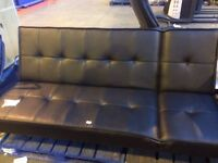 New John Lewis ex display black double sofa bed / 3 seater sofa