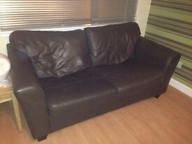 BROWN LEATHER SOFAS/ COUCHES