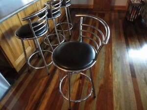 Bar Stools - Chrome Swivel with backs Unanderra Wollongong Area Preview