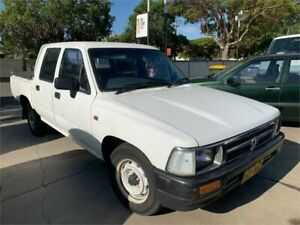 1996 Toyota Hilux RN90R DX White 5 Speed Manual X Cab Pickup