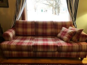 Couch - Red and White - quality furniture