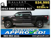 2012 GMC SIERRA SLT LIFTED *EVERYONE APPROVED* $0 DOWN $239/BW!
