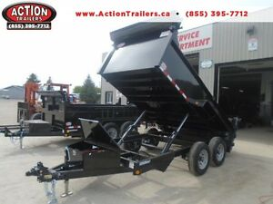 EASIEST COMBO GATE TO OPERATE 6X12 DUMP TRAILER 5 TON London Ontario image 1