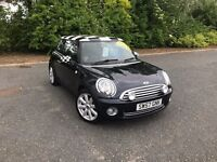 2007 MINI COOPER BLACK CHEQUERED ROOF & MIRRORS 56,000 MILES GREAT CAR MUST SEE £4495 OLDMELDRUM