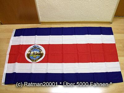 Fahnen Flagge Costa Rica Kostarika Wappen Neu - 90 x 150 cm