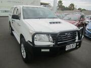 2013 Toyota Hilux KUN26R MY14 SR Double Cab Clear White 5 Speed Manual Utility Melrose Park Mitcham Area Preview