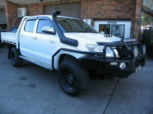 2012 Toyota Hilux KUN26R MY12 SR5 (4x4) White 4 Speed Automatic Dual Cab Pick-up Roselands Canterbury Area Preview