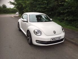 VOLKSWAGEN BEETLE 2012 (62) TSI DESIGN 1.2 DSG STUNNING CAR 2 LADY OWNERS OVER £5000 OF EXTRAS