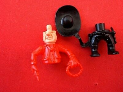 1983 EU Die lustigen Cowboys  FIGUR 2  rot unbebaut Teile am Steg!