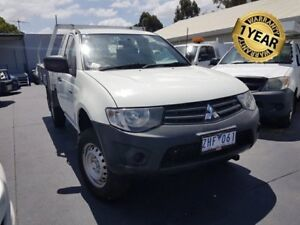 2012 Mitsubishi Triton MN MY12 GL White 5 Speed Manual Cab Chassis Canley Vale Fairfield Area Preview