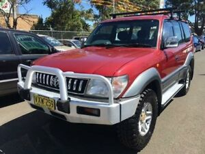 1999 Toyota Landcruiser Prado VZJ95R GXL (4x4) Red 4 Speed Automatic 4x4 Wagon Campbelltown Campbelltown Area Preview