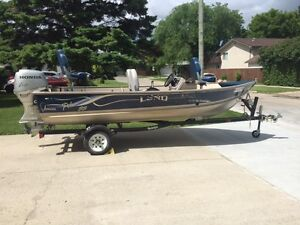 16 Foot Lund With 40 HP Four Stroke Honda