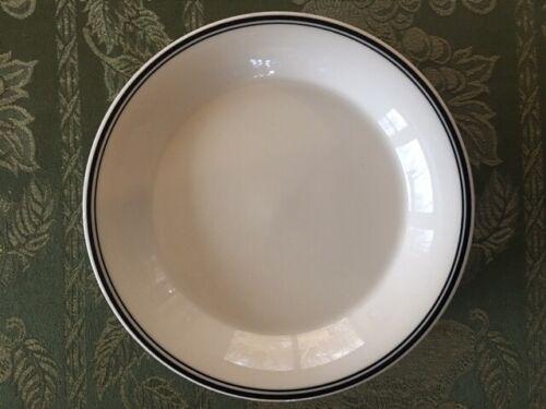 Shenango China 6 Bread/Salad Plates White/Black Stripe New Castle PA