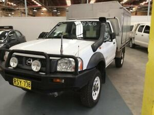 2006 Nissan Navara D22 MY2003 DX White 5 Speed Manual Cab Chassis Cardiff Lake Macquarie Area Preview