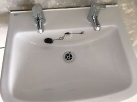 Ideal Basin with 2 separate taps